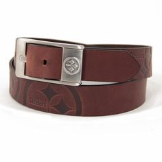 Pittsburgh Steelers Brandish Leather Belt - Brown