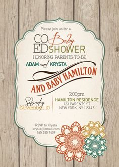 Co Ed Fall Baby Shower Invitation By PaisleyDayneDesigns On Etsy