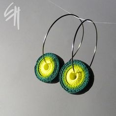 Green Spiral Earrings by E.H.design, via Flickr#Repin By:Pinterest++ for iPad#