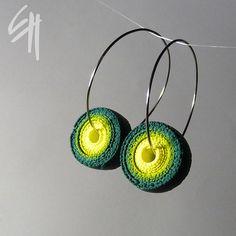 Green Spiral Earrings by E.H.design, via Flickr