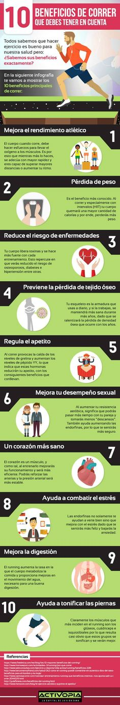 10 razones para abandonar el sillón y  salir de casa a practicar un poco de running. #infografia #running #correr #deporte