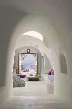 Perivolas Hotel - Santorini, Greece - interesting architecture and look at that view from the terrace!