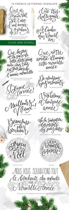 French Christmas lettering overlays - Instagram - 2