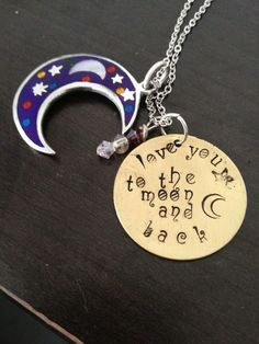 'Love you to the moon and back Necklace' is going up for auction at 11am Mon, Oct 15 with a starting bid of $10.