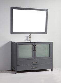 Superieur MTD+Argentina+(single)+48 Inch+Gray+Modern+Bathroom