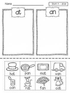Short Vowel Picture Word Sorts