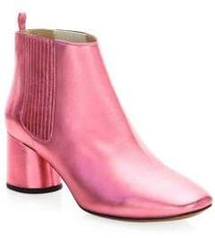 Designer Clothes, Shoes & Bags for Women Leather Chelsea Boots, Leather Booties, Ankle Booties, Metallic Boots, Metallic Pink, Slip On Boots, Pull On Boots, Beatle Boots, Cinderella Shoes