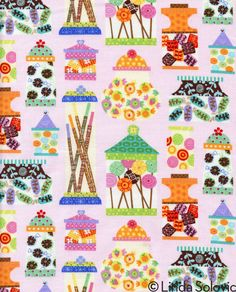 Timeless Treasures Sweet Treats Fabric Collection by Linda Solovic, via Behance