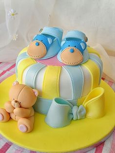 Boy baby cake
