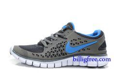 Billig Schuhe Damen Nike Free Run + (Farbe:Vamp-grau,innenlogo-blau;Sohle-weiB) Online in Deutschland.