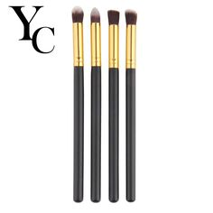 Yansh 4pcs/set Professional Eye Makeup Brushes eyeshadow Eyebrow Mascara Blending Makeup Brush Set #Affiliate
