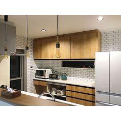 Kitchenについてのインテリア実例。 「マイ テリトリー(˘...」 (2018-03-18 13:59:43に共有されました) Kitchen Design, Kitchen Cabinets, New Homes, Interior, House, Home Decor, Modern Kitchens, Decoration Home, Design Of Kitchen