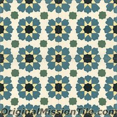 Handmade Moorish, Moroccon Design cement tile by Original Mission Tile - all cement tiles can be customized to create your own according to your project's specs.