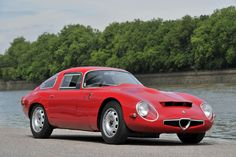 1964 Alfa Romeo TZ-1. Are you interested in leasing a Alfa Romeo? Contact Premier Financial Services for a quote. Visit us at pfsllc.com #lease #PremierFinancial #AlfaRomeo #red #car #auto #luxury #exotic #vintage