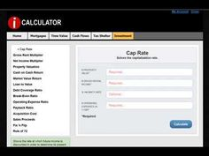 CAP RATE is explained and calculated using iCalculator. Learn more at http://www.proapod.com/real-estate-calculator.asp #realestate #realestatecalculations #realestatecalculator
