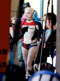 Robbie Sporting her Harley Quinn Outfit in Next Years Suicide Squad Movie