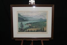 Huntley Brown Signed Limited Edition Print 269/500 Windermere Lake BC Canada #Surrealism http://stores.ebay.com/Pontiac-Pickings