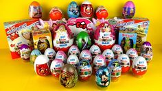 35 Surprise Eggs, Kinder Surprise Mickey Mouse, Cars 2 Маша и Медведь Киндер Сюрпризы Disney Pixar Frozen Movie, Disney Frozen, Disney Cars, Disney Pixar, Disney Surprise, Mickey Mouse Clubhouse, Peppa Pig, My Little Pony, Barbie Dolls