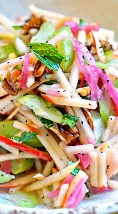 Matchstick Apple and Celery Salad Recipe Saladas Celery Recipes, Salad Recipes, Vegetarian Recipes, Cooking Recipes, Healthy Recipes, Vitamix Recipes, Apple Celery Salad, Best Nutrition Food, Nutrition Chart