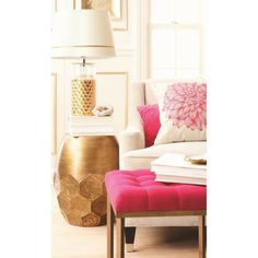 """Target Threshold™ Honeycomb Gold Foiled Table Lamp Base - 5.5x16"""" (includes CFL bulb) $54.99"""