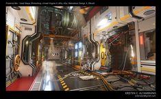 ArtStation - Preserve Me, Kristen C. Geek Room, Post Apocalyptic Art, Sci Fi Environment, Futuristic Art, Unreal Engine, Environmental Art, Fantasy Landscape, Painted Signs, Zbrush