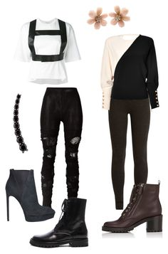 Costume #3 by alicepardus on Polyvore featuring polyvore, fashion, style, Junya Watanabe Comme des Garçons, Emanuel Ungaro, Ryan Roche, Gianvito Rossi, Ann Demeulemeester, Yves Saint Laurent, Van Cleef & Arpels, Alinka and clothing