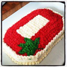 Made a yittle Ohio State cake Ohio State Cake, Ohio State Buckeyes, Cupcake Cakes, Cupcakes, Ohio State University, Cake Stuff, Some Recipe, Cake Decorating, Graduation