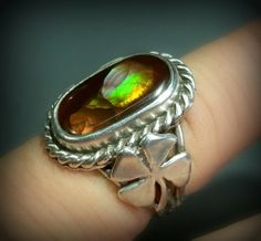 Danu s Luck of the Irish Fire agate ring and by Spicedragon