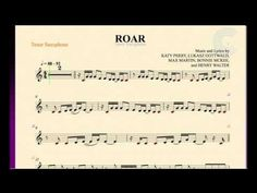 Roar - Katy Perry - Tenor Saxophone Sheet Music, Chords, and Vocals Free Sheet Music, Music Sheets, Trumpet Sheet Music, Saxophone Sheet Music, Music Chords, Tenor Sax, Katy Perry, Random Things, Youtube