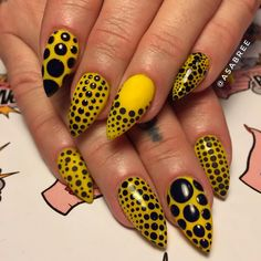 """1,134 Likes, 16 Comments - FINGER BANG (@fingerbangportland) on Instagram: """"@asabree did this incredible Yayoi Kusama inspired set on me today. I  them so much #yayoikusama…"""""""