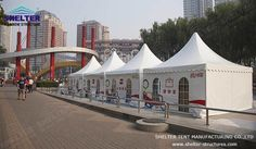 Shelter High Peak Tent (also called chinese hat marquee, pagoda tent), with its classic high-peaked appearance and first-class materials and finishing quality, is very popular home and abroad. Hot Tub Gazebo, Gazebo Canopy, Garden Canopy, A Frame Tent, Dome Structure, Tent Living, Tent Design, Outdoor Gazebos, Tent Sale