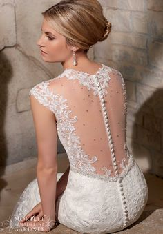 Bridal Gowns / Dresses Style 2706: Venice Lace Appliques on Net with Detailed Diamante Beading http://www.morilee.com/bridals/bridal/2706