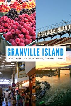 Granville Island: A don't miss when visiting Vancouver, Canada! One of the top tourist attractions in the city but also locals' favorite! Granville Island Vancouver, Vancouver Seattle, Vancouver Vacation, Visit Vancouver, Vancouver Travel, Vancouver Island, Vancouver Tourist Attractions, Vancouver Shopping, Vancouver Restaurants