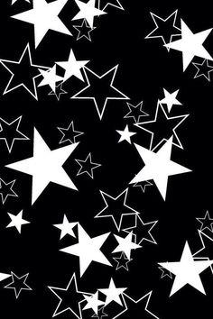 Black And White Stars Wallpaper Planets Wallpaper, Star Wallpaper, Wallpaper Iphone Cute, Cellphone Wallpaper, Wallpaper Backgrounds, Iphone Cover, Iphone 5, Black And White Stars, Black And White Background