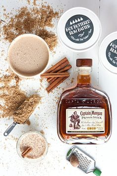 After sampling many, many different recipes for hot buttered rum throughout the years, we've come to the realization that our favorite batters are those Winter Drinks, Holiday Drinks, Holiday Treats, Holiday Recipes, Cocktail Drinks, Fun Drinks, Beverages, Cocktail Recipes, Alcoholic Drinks
