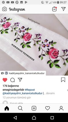 Cross Stitch Rose, Embroidery Stitches, Diy And Crafts, Design, Embroidered Towels, Face Towel, Herb, Cross Stitch Embroidery, Cute Cross Stitch