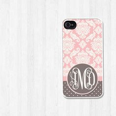 Personalized iPhone 4 Case iPhone 5 Case Pink and by BeeCovered, $16.00