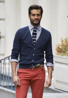 Red White and Blue - men's Fourth of July style