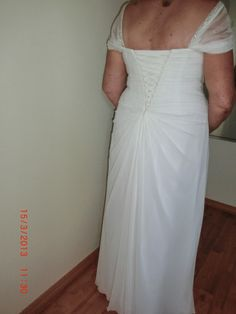 Back view - Elegant Older Bride