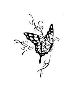 Vlinder, mooi voor op de schouder.