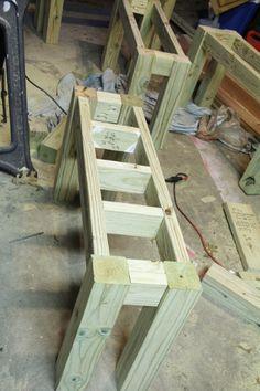 Cedar DIY Outdoor Benches-for behind the sofa on the porch
