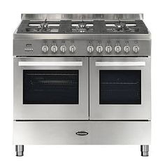 Buy The Britannia Stanza 100 Twin Dual Fuel Stainless Steel Range Cooker Range Cooker From CookersAndOvens At A Fantastic Price. Small Appliances, Kitchen Appliances, Dual Fuel Range Cookers, Safety Valve, Heating Systems, Cooking Utensils, Timeless Design, Oven, Stainless Steel