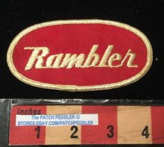 Vtg-AMC-RAMBLER-Patch-American-Motors-Corporation-Car-Auto-C63I