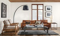 For those who love contemporary lines but seek extreme comfort, the Hess leather sofa is the perfect place to unwind. A low-slung frame and thin arms don't take up much visual space in your room, but the deep seat and blend-down cushions create great space to lounge. Designed to relax over time, the cushions will develop a more casual look while still maintaining their plush feel.