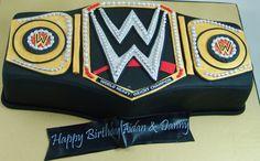 Wrestling Belt Cake #WWBelt Wrestling Cake, 3d Cakes, Groom, Belt, Belts, Grooms