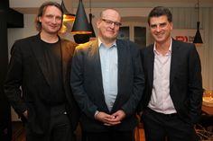 From the left: Michał Przymusiński (Crowley Media), Andrzej Garapich (PBI) and Olgierd Cygan, the founder of Filmteractive