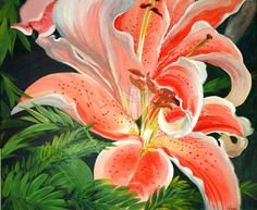 watercolor paintings of lilys | This was painted with heavy watercolor pigment to resemble the strong ...