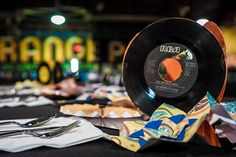 This is a cool idea for 45s.    Tyler & Lauren Wedding-571, via Flickr.