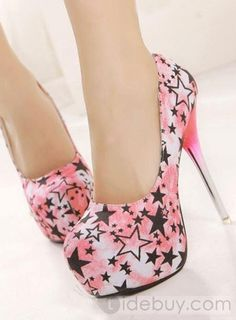 Fantastic All-Matched Round Toe Stiletto Heels Platform Women Shoes : Tidebuy.com