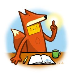Sophia Writing - The Roundlings  #drawing #illustration #fox #pencil #coffee #notebook